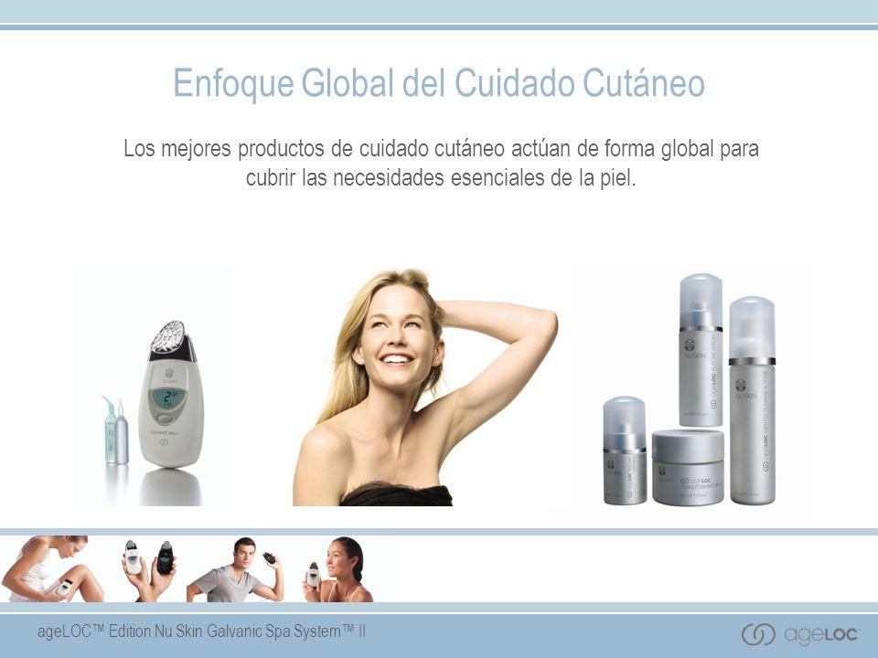 ageLOC Edition Nu Skin Galvanic Spa System II Beneficios del Producto Formulado con tecnología ageLOC - una exclusiva mezcla de productos antiedad pendiente de patente.