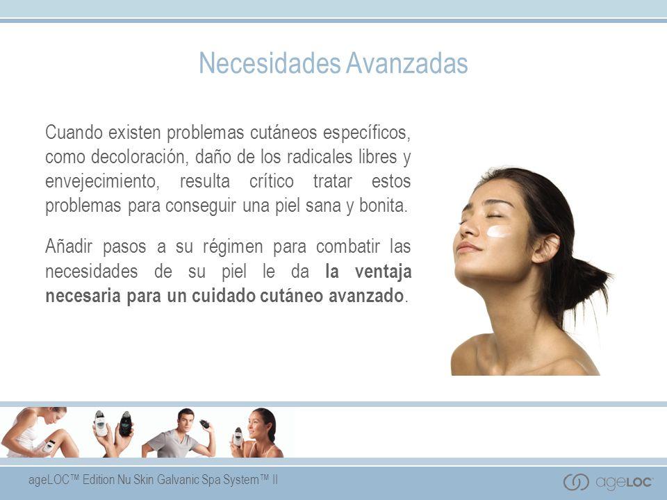 ageLOC Edition Nu Skin Galvanic Spa System II Nutriol ® Hair Fitness Treatment Beneficios del Producto Producto de tratamiento tecnológicamente avanzado que revitaliza y refuerza el cabello.