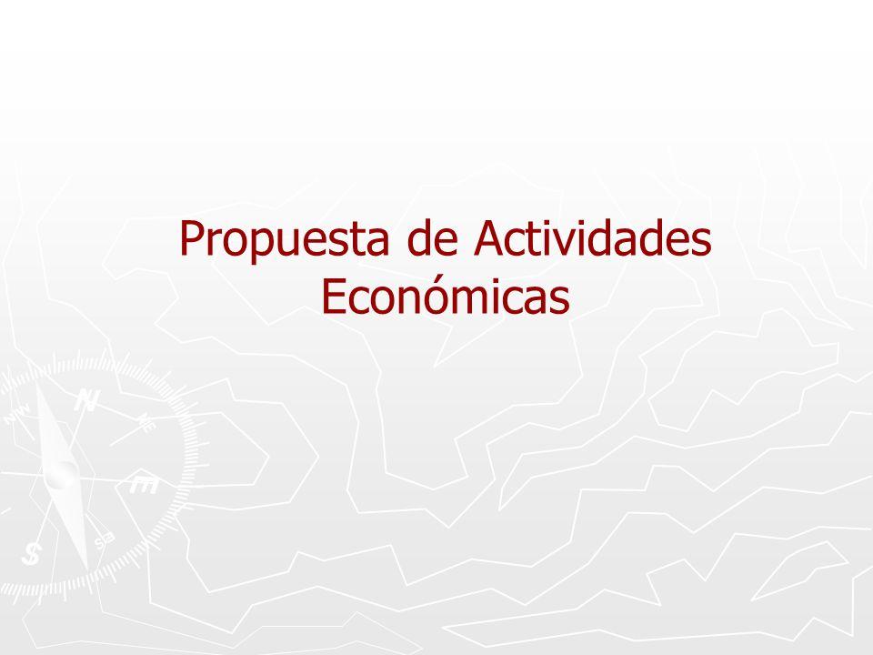 Propuesta de Actividades Económicas
