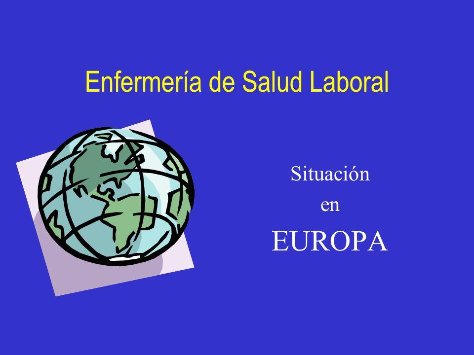 Enfermería de Salud Laboral Situación en EUROPA