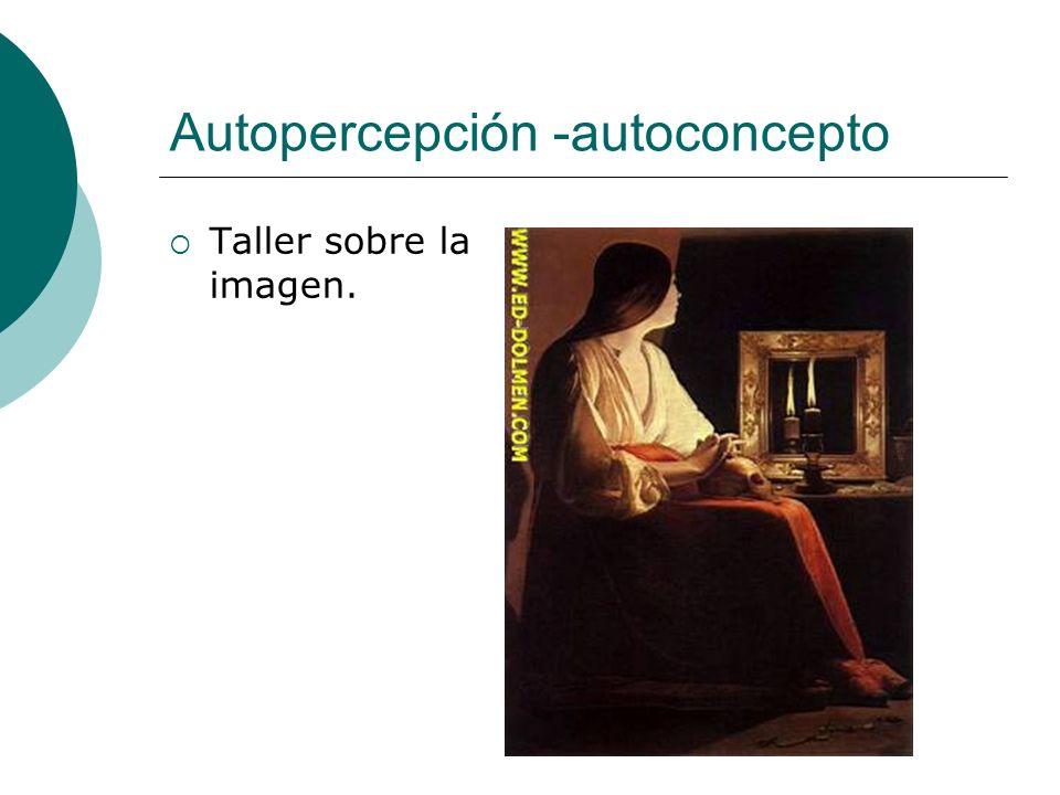 Autopercepción -autoconcepto Taller sobre la imagen.
