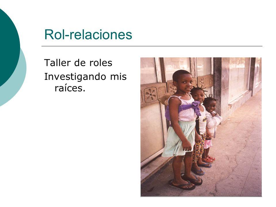 Rol-relaciones Taller de roles Investigando mis raíces.
