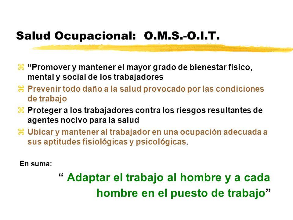 Salud Ocupacional: O.M.S.-O.I.T.