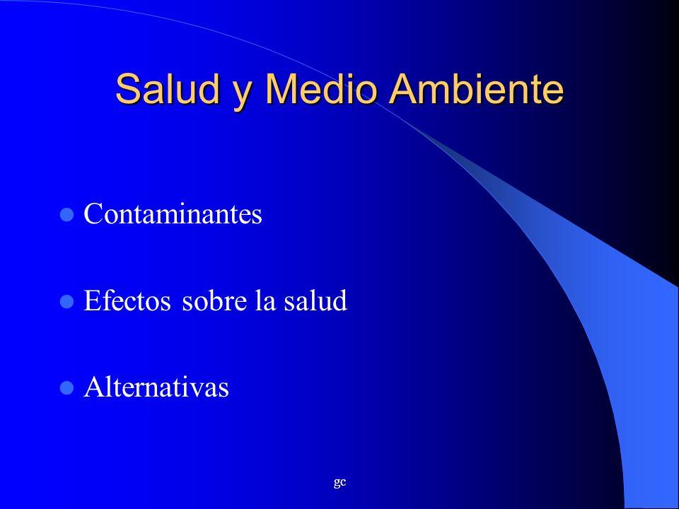 gc Salud y Medio Ambiente Contaminantes Efectos sobre la salud Alternativas