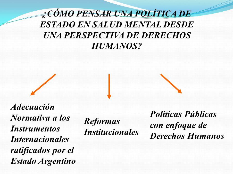 ¿CÓMO PENSAR UNA POLÍTICA DE ESTADO EN SALUD MENTAL DESDE UNA PERSPECTIVA DE DERECHOS HUMANOS.