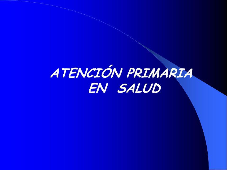 ATENCIÓN PRIMARIA EN SALUD