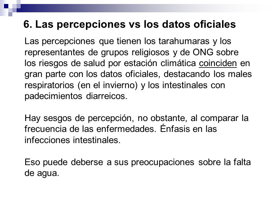Las percepciones que tienen los tarahumaras y los representantes de grupos religiosos y de ONG sobre los riesgos de salud por estación climática coinc