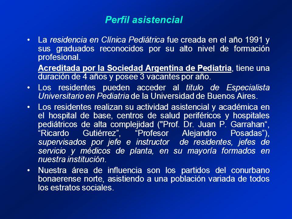 La residencia en Clínica Pediátrica fue creada en el año 1991 y sus graduados reconocidos por su alto nivel de formación profesional.
