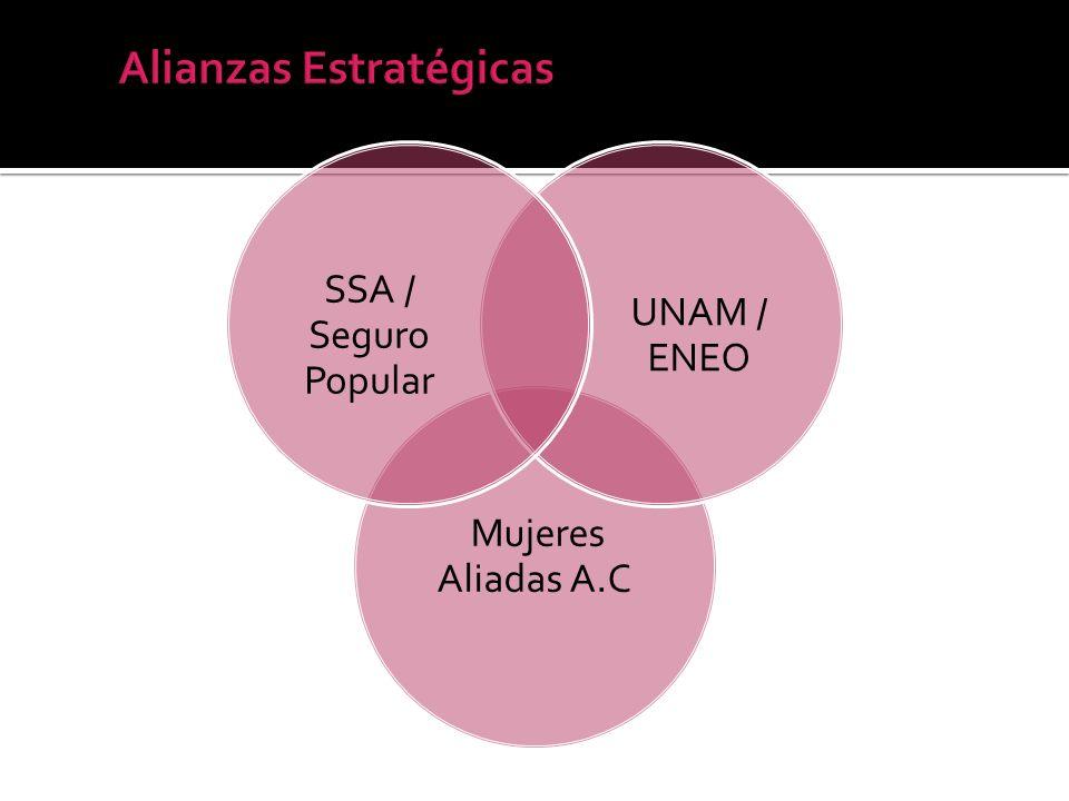 Mujeres Aliadas A.C UNAM / ENEO SSA / Seguro Popular