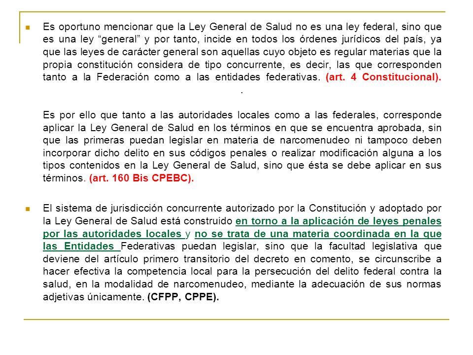 LA LEY GENERAL DE SALUD REFORMA PUBLICADA EN EL DIARIO OFICIAL DE LA FEDERACIÓN EL 20 DE AGOSTO DE 2009 NARCOMENUDEO.