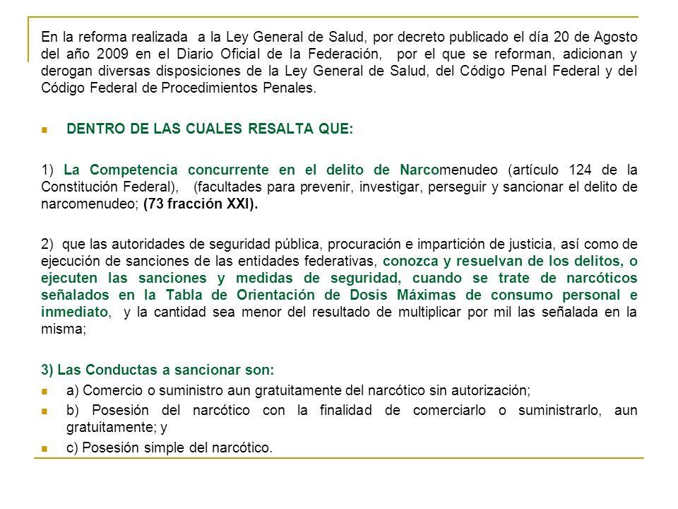 A PARTIR DE ENERO DE 1991 El 30 de diciembre de 1991, se publico en el DOF, se reformo el artículo 194 del CPF.