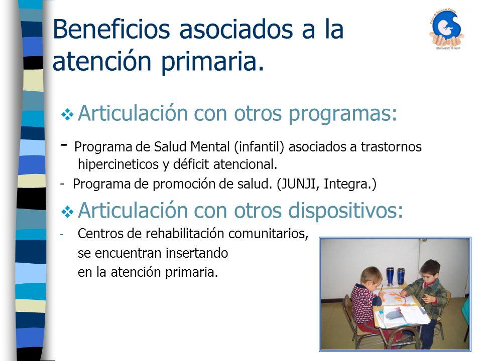 Beneficios asociados a la atención primaria.