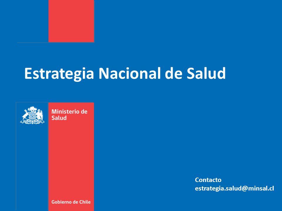 Estrategia Nacional de Salud Contacto estrategia.salud@minsal.cl