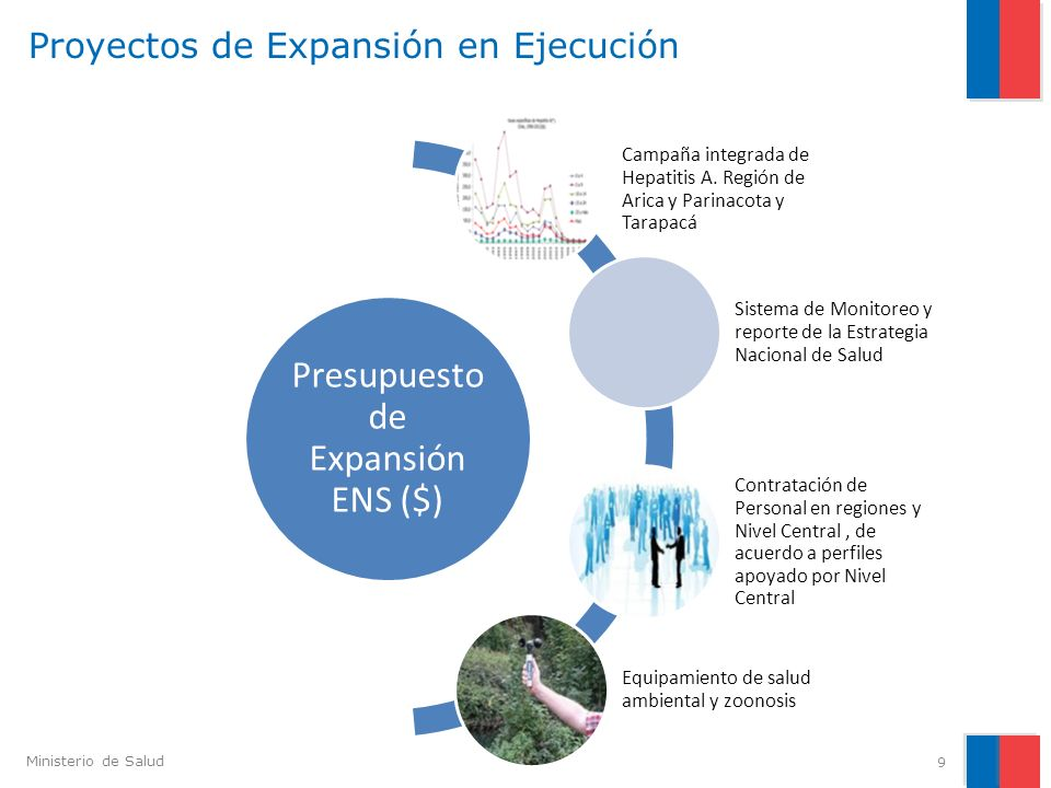 Ministerio de Salud Proyectos de Expansión en Ejecución 9 Presupuesto de Expansión ENS ($) Campaña integrada de Hepatitis A. Región de Arica y Parinac