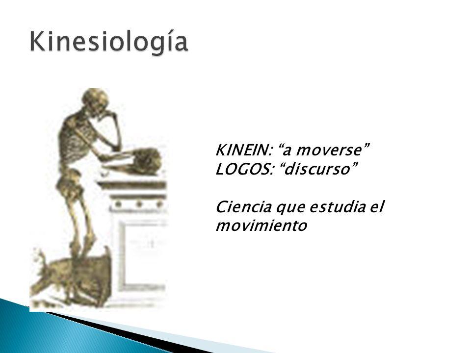 KINEIN: a moverse LOGOS: discurso Ciencia que estudia el movimiento