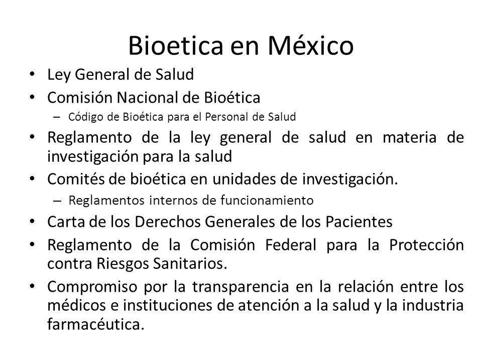 Bioetica en Programa de residencia en epidemiología, México Tres cursos para desarrollo de proyectos de investigación, incluye componente ético.