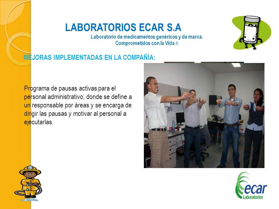 LABORATORIOS ECAR S.A Laboratorio de medicamentos genéricos y de marca.