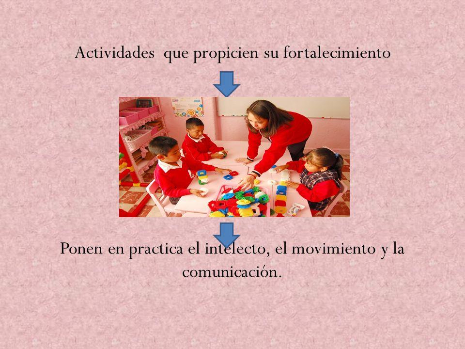 La intervención educativa en relación con el desarrollo físico debe proporcionar que los alumnos amplíen sus capacidades de control y conciencia corporal, proponiendo actividades de juegos.