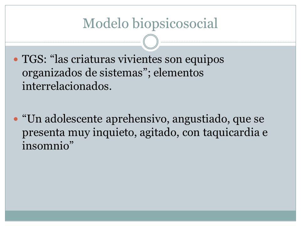 Modelo biopsicosocial TGS: las criaturas vivientes son equipos organizados de sistemas; elementos interrelacionados. Un adolescente aprehensivo, angus