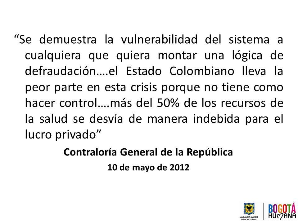 Se demuestra la vulnerabilidad del sistema a cualquiera que quiera montar una lógica de defraudación….el Estado Colombiano lleva la peor parte en esta