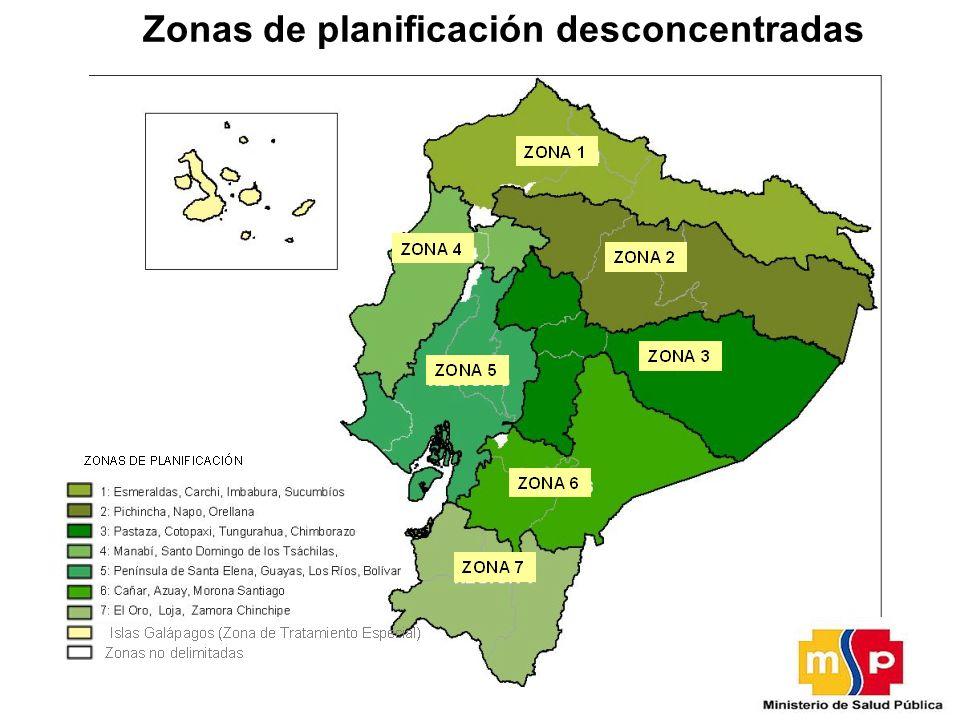 Zonas de planificación desconcentradas