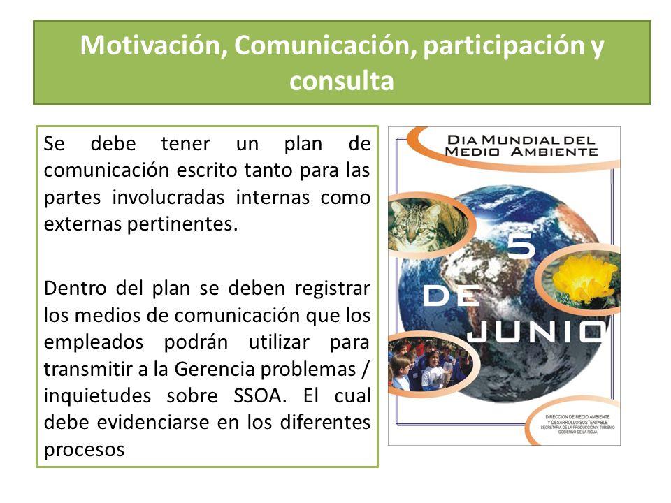 Se debe tener un plan de comunicación escrito tanto para las partes involucradas internas como externas pertinentes. Dentro del plan se deben registra