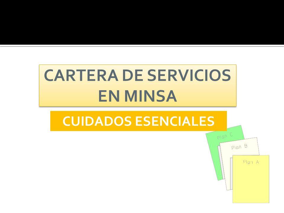 CARTERA DE SERVICIOS EN MINSA CUIDADOS ESENCIALES