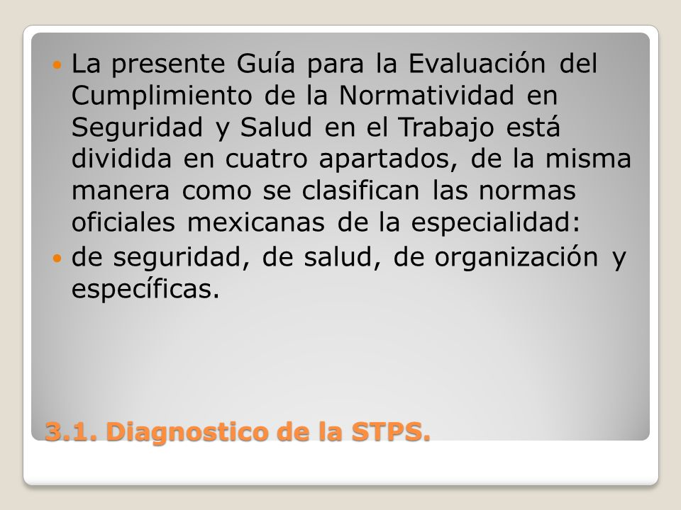 3.1.Diagnostico de la STPS.