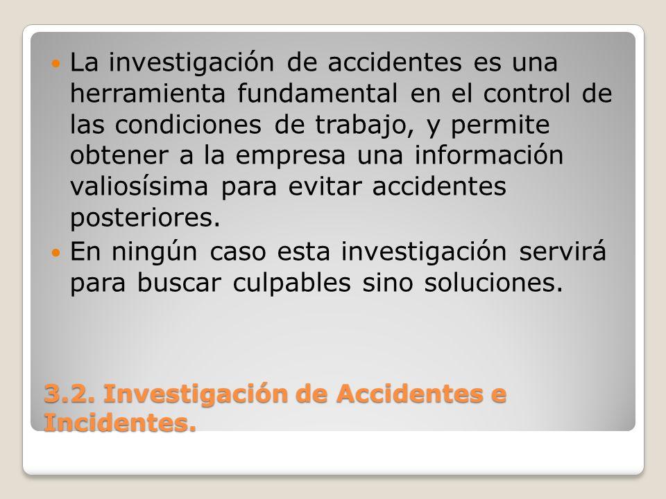 La investigación de accidentes es una herramienta fundamental en el control de las condiciones de trabajo, y permite obtener a la empresa una informac