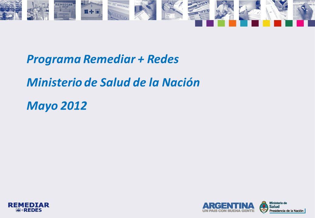 Programa Remediar + Redes Ministerio de Salud de la Nación Mayo 2012