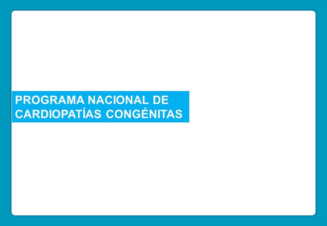 Programa Nacional de Cardiopatías Congénitas PROGRAMA NACIONAL DE CARDIOPATÍAS CONGÉNITAS