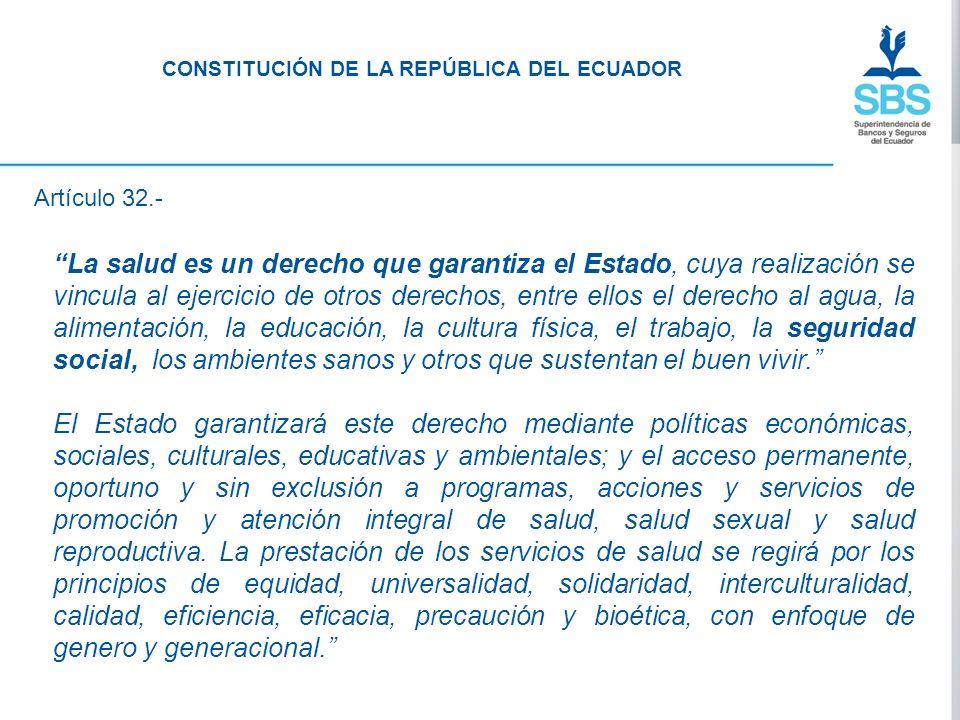 Artículo 359.- El sistema nacional de salud comprenderá las instituciones, programas, políticas, recursos, acciones y actores en salud; abarcará todas las dimensiones del derecho a la salud; garantizará la promoción, prevención, recuperación y rehabilitación en todos los niveles; y propiciará la participación ciudadana y el control social.
