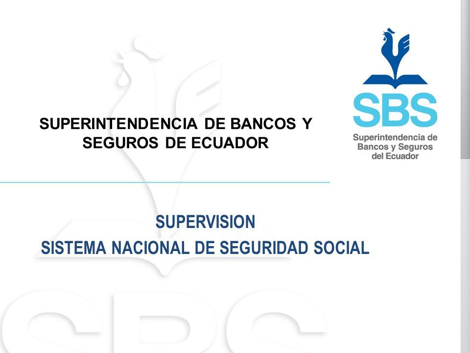 SUPERINTENDENCIA DE BANCOS Y SEGUROS DE ECUADOR SUPERVISION SISTEMA NACIONAL DE SEGURIDAD SOCIAL