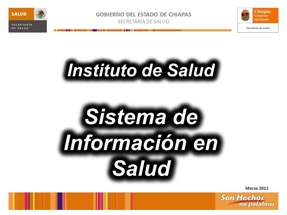 GOBIERNO DEL ESTADO DE CHIAPAS SECRETARIA DE SALUD 2 Orientado a los Servicios Orientados a Salud Pública y Vigilancia Epidemiológica Población Usuaria