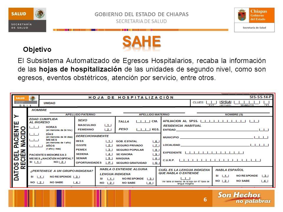 GOBIERNO DEL ESTADO DE CHIAPAS SECRETARIA DE SALUD Instituto de Salud La Plataforma Única de Información es el instrumento técnico que proporciona la base informática para el manejo de información epidemiológica estratégica.
