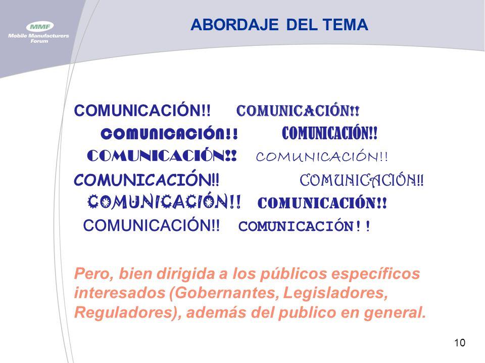 10 ABORDAJE DEL TEMA COMUNICACIÓN!. COMUNICACIÓN!.