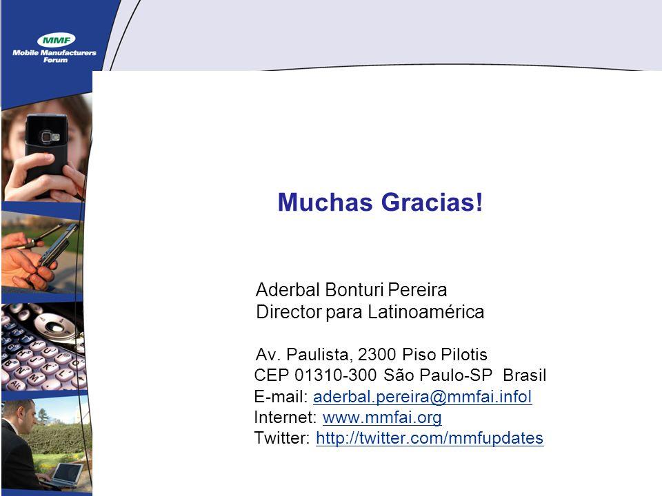 15 Muchas Gracias. Aderbal Bonturi Pereira Director para Latinoamérica Av.