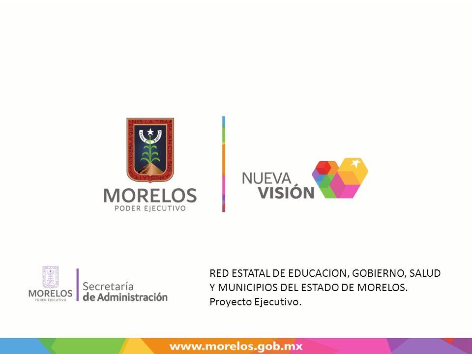 RED ESTATAL DE EDUCACION, GOBIERNO, SALUD Y MUNICIPIOS DEL ESTADO DE MORELOS. Proyecto Ejecutivo.
