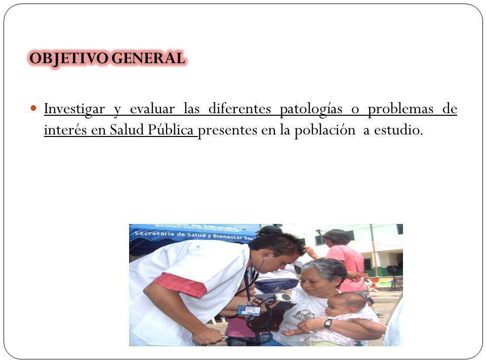 Mejorar : 1.La situación deficiente de investigación 2.Evaluación y abordaje de las diferentes patologías o problemas de interés en Salud Pública