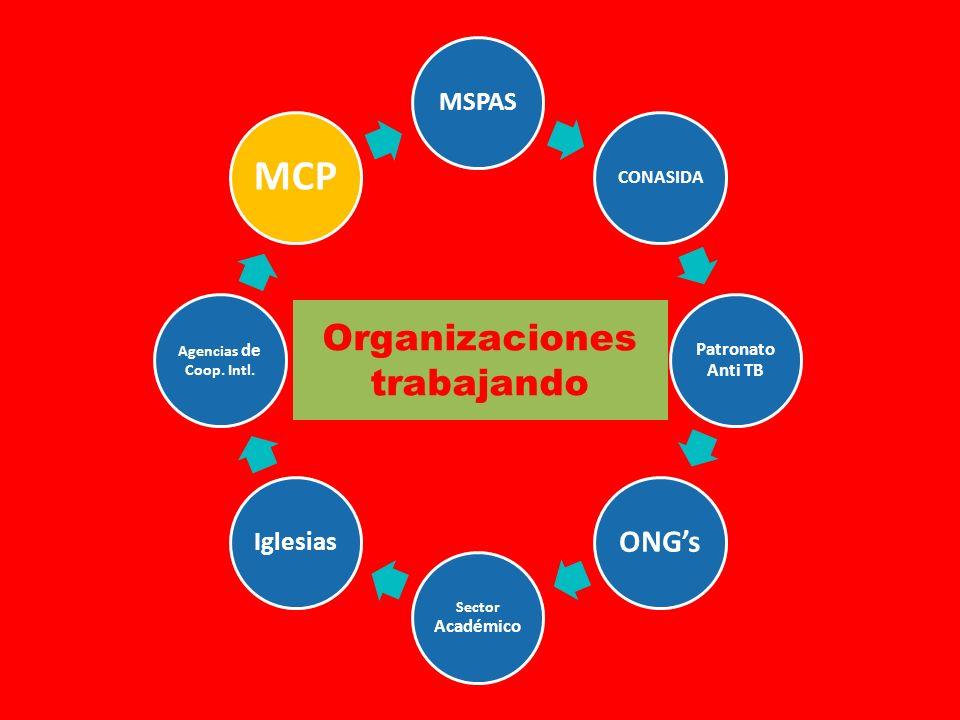 MSPAS CONASIDA Patronato Anti TB ONGs Sector Académico Iglesias Agencias de Coop.