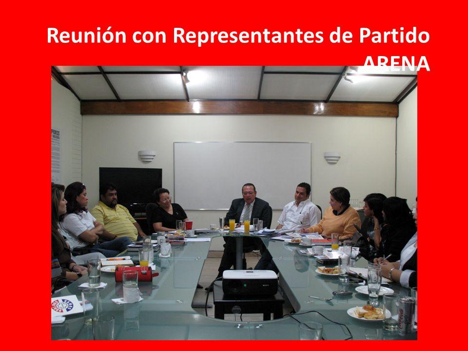 Reunión con Representantes de Partido ARENA