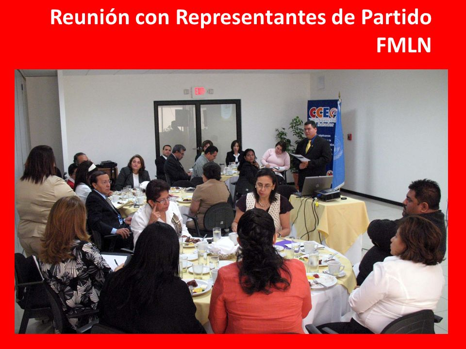 Reunión con Representantes de Partido FMLN