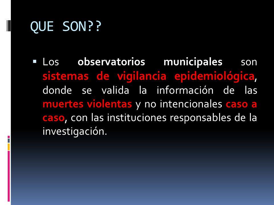 CONFORMACIÓN El Observatorio del Delito esta conformado mediante acuerdo 011 de 2004 con dos Comités de trabajo: El Comité Operativo y el Comité de Vigilancia Epidemiológica.