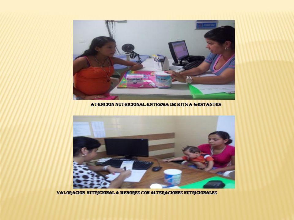 ATENCION NUTRICIONAL ENTREGA DE KITS A GESTANTES VALORACION NUTRICIONAL A MENORES CON ALTERACIONES NUTRICIONALES