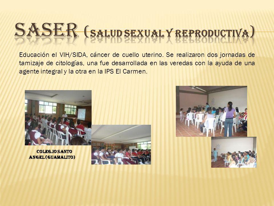 Educación el VIH/SIDA, cáncer de cuello uterino.