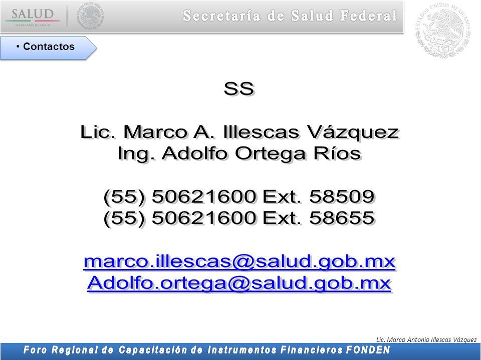 Lic. Marco Antonio Illescas Vázquez Contactos
