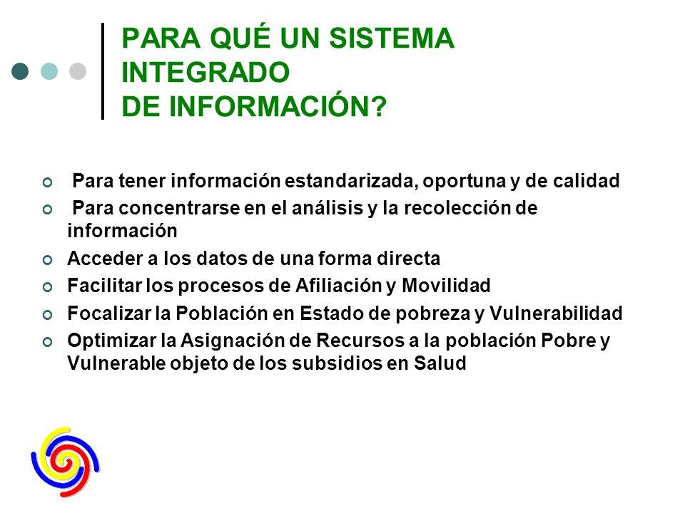PROPUESTAS Facilitar que los municipios y departamentos tengan un único sistema que garantice la integralidad de la información del SGSSS que les corresponde Federación Colombiana de Municipios
