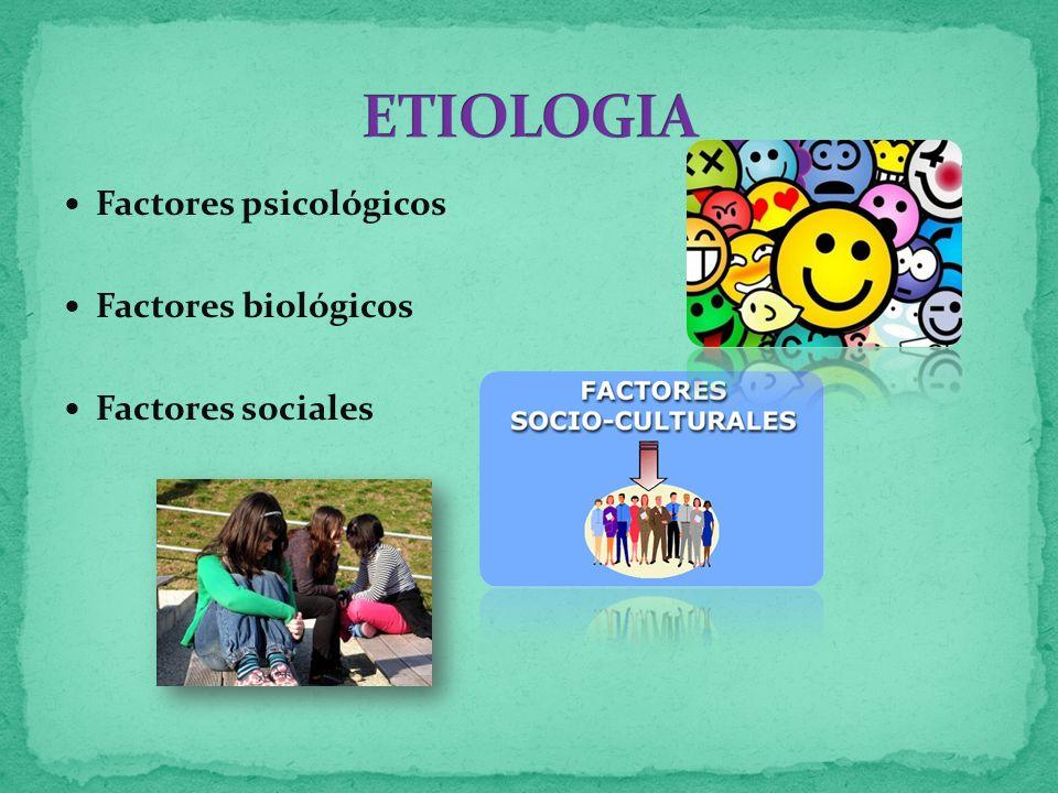 Factores psicológicos Factores biológicos Factores sociales