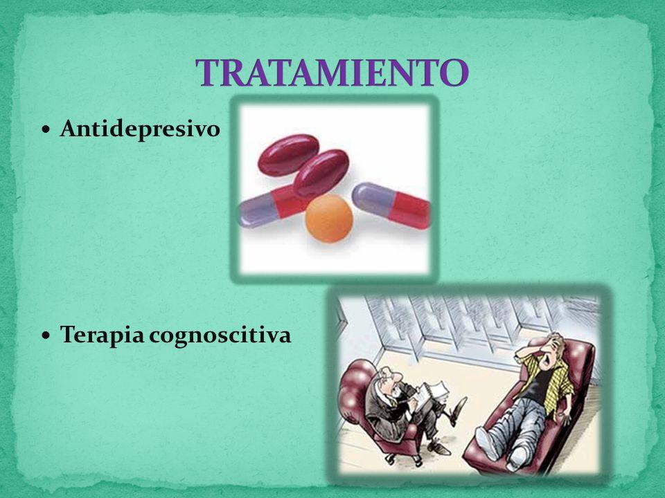 Antidepresivo Terapia cognoscitiva