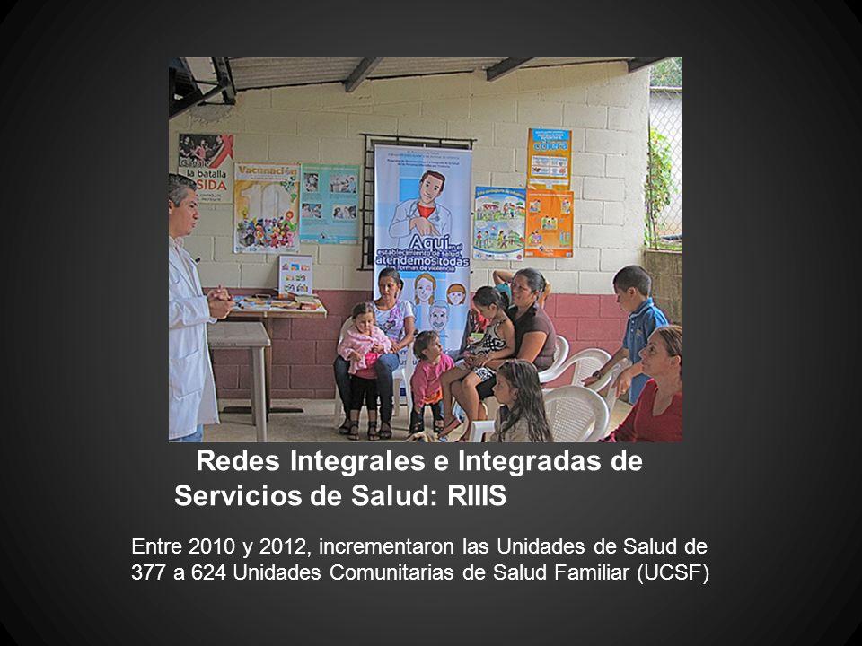 Redes Integrales e Integradas de Servicios de Salud: RIIIS Entre 2010 y 2012, incrementaron las Unidades de Salud de 377 a 624 Unidades Comunitarias d